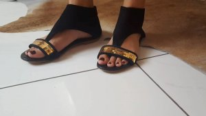 Divine Follie Toe-Post sandals black leather