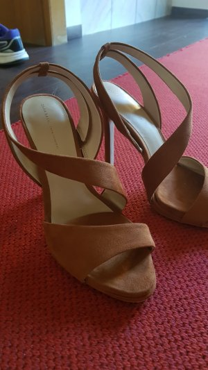 Zara High Heel Sandal grey brown
