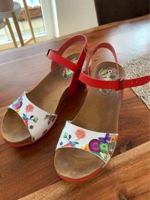 Desigual Platform Sandals red-white