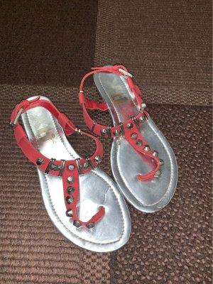 Xti Toe-Post sandals bright red