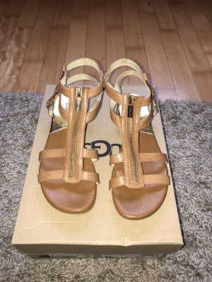 Michael Kors Roman Sandals camel leather