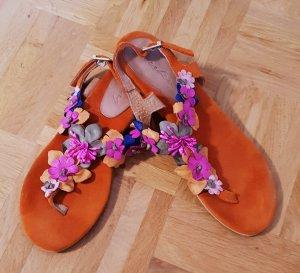 Deerberg Strapped High-Heeled Sandals orange