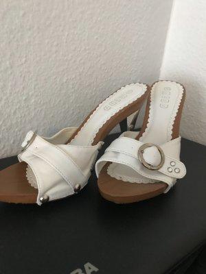High Heel Sandal white-beige