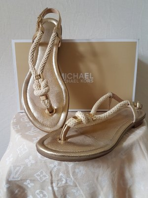 Sandalen/Flipflops von Micheal Kors in Gold