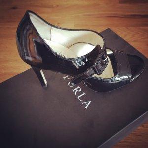 Sandalen FURLA schwarz Lackleder