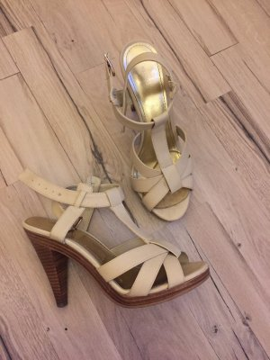 H&M Strapped High-Heeled Sandals multicolored