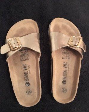 Comfort Sandals gold-colored-beige