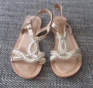 Sandalen Gold Gr. 39 nur 1mal getragen