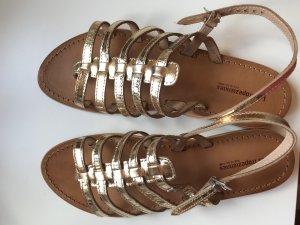 Les Tropéziennes Sandalias de tiras marrón arena Cuero