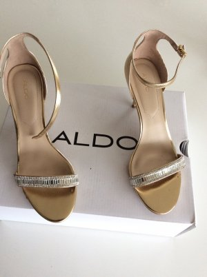 Aldo High-Heeled Sandals gold-colored