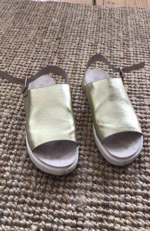 Monki Sandales à plateforme blanc-doré