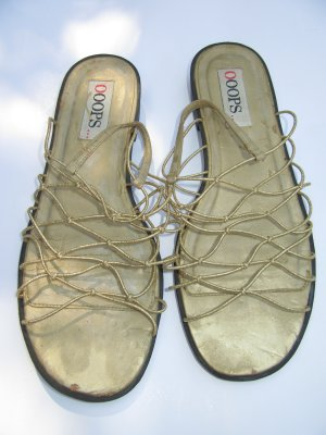 Vintage Slingback Ballerinas gold-colored