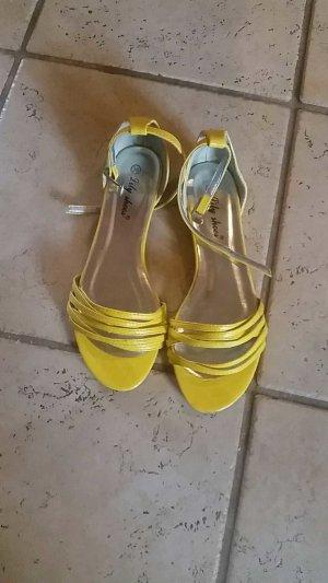 Sandalen , Gr.36 , gelb