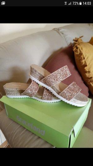 sandalen gr. 37 neu glitzer