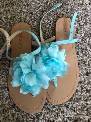 Toe-Post sandals turquoise-light blue