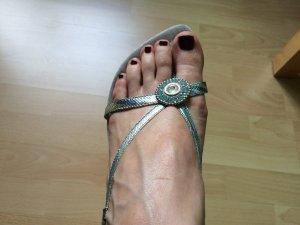 Sandalen Gr. 39 metallic