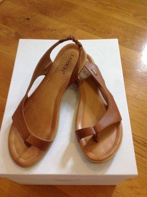 Sandalen Gr. 41 in braun aus Leder mit Fußbett