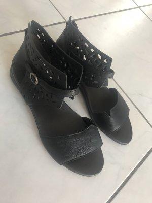 Think! Comfort Sandals black leather