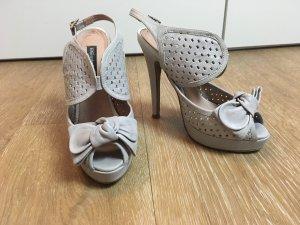 Sandalen grau Leder