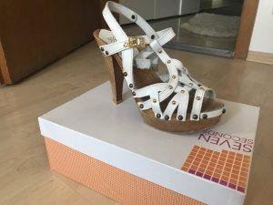 Sandalen Größe 38 weiß