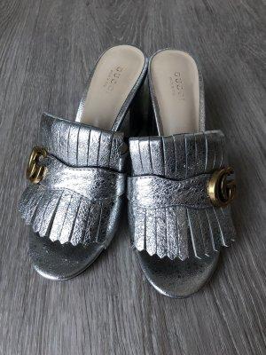 Gucci Sandales confort argenté