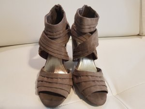 H&M High-Heeled Sandals grey brown