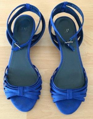 Sandalias de tiras azul Imitación de cuero