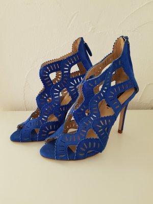 Sandalen High Heels blau Zara