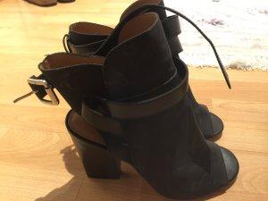 Sandalen ,High-Heels mit Blockabsatz