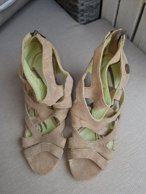 Replay Roman Sandals beige leather