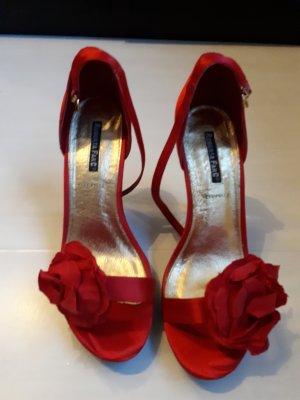 Sandalen, High Heels, rot