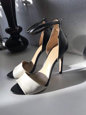 Sandalen High Heels Zara Schwarz Weiß