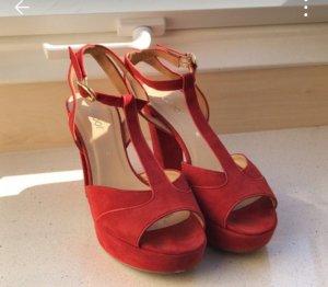Gabor Comfort Sandalo con cinturino rosso Scamosciato