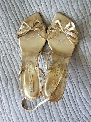 Sandalen Hochzeitsschuhe gold 41 Pura Lopez