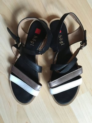 Sandalen Högl schwarz weiß Silber Größe 38