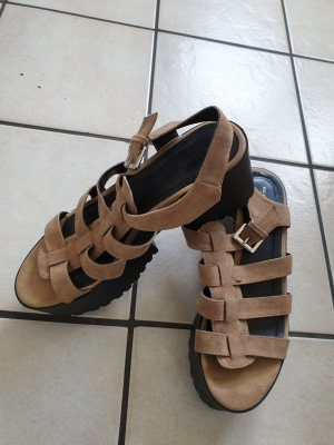 Pull & Bear Wedge Sandals multicolored