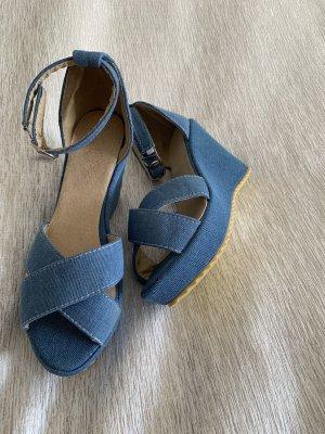 Platform High-Heeled Sandal cornflower blue