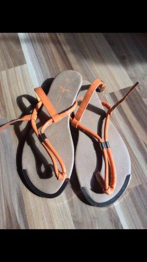 Sandalen in orange