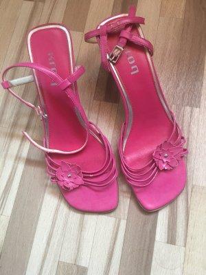 Sandalias de tiras rosa