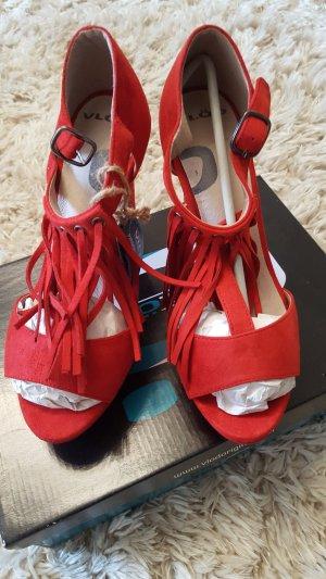 Sandalen in rot gr.38
