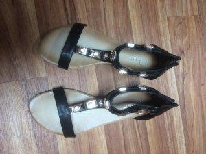 Sandalen in Schwarz gold