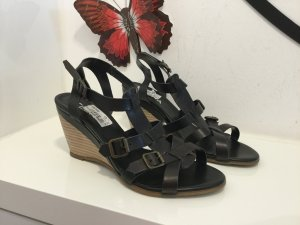 Wedge Sandals black-light brown leather