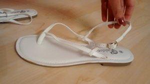 Sandalias con talón descubierto blanco Imitación de cuero