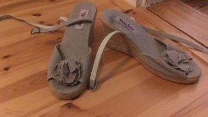 Sandalen Keilabsatz Blume Schnürung 38