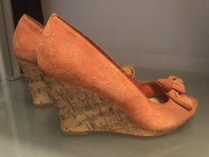 Sandalen Keilabsatz orange