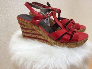 Sandalen, Keilabsatz, Rot, Tamaris