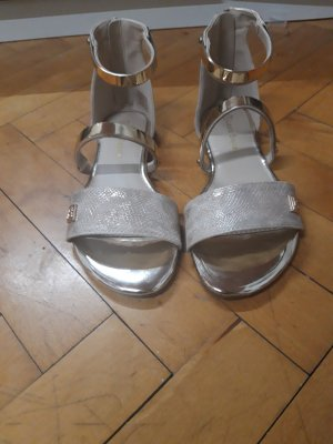 Laura biagiotti Comfort Sandals gold-colored leather
