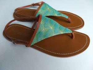 Sandalen - Leder mit Gewebe