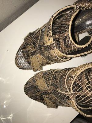 Sandalen Leder Schlangen Optik high heels ZARA