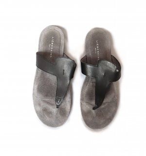 Liebeskind Toe-Post sandals black-grey leather
